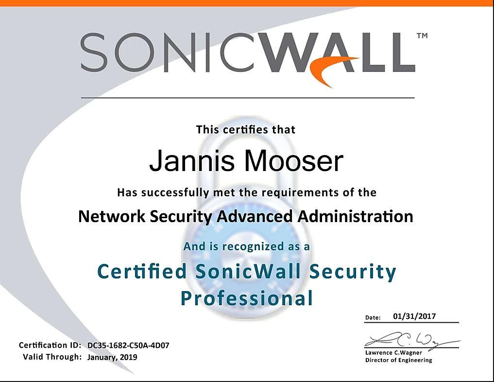 CSSP Zertifizierung Jannis Mooser
