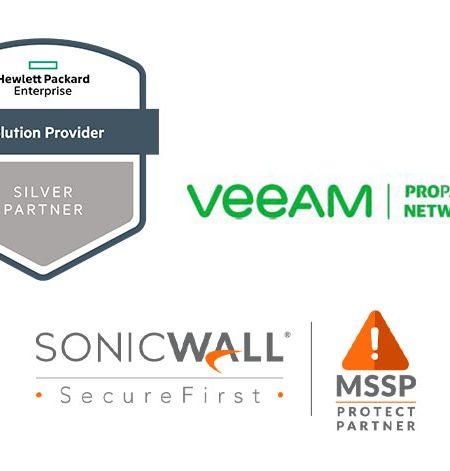dnw Partnerstatus bei HPE, veeam und SonicWall